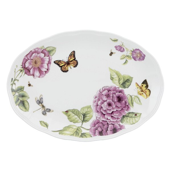 Butterfly Meadow Bloom Oval Platter by Lenox