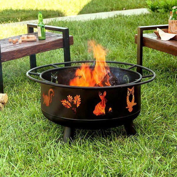 Woodland Steel Wood Burning Fire Pit by Plow & Hearth