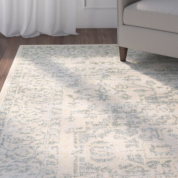 Alderman Green/Beige Area Rug by Charlton Home