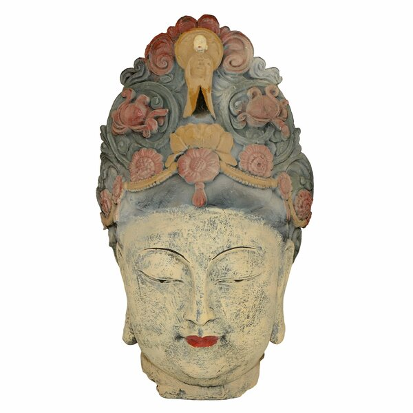 Lundys Large Lady Buddha Head Statue by World Menagerie