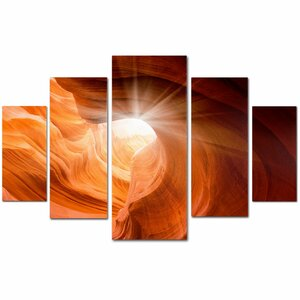 'Smooth II' by Moises Levy 5 Piece Photographic Print on Wrapped Canvas Set by Trademark Fine Art