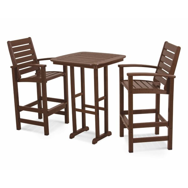 Signature 3-Piece Bar Height Dining Set by POLYWOOD®