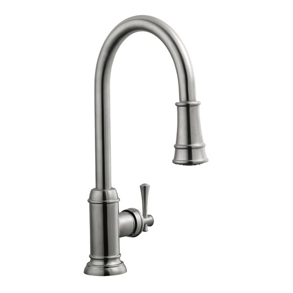 Pull Out Single Handle Kitchen Faucet by Design House