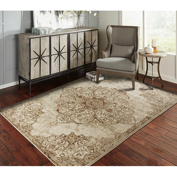 Springer Brown/IvoryIndoor/Outdoor Area Rug by World Menagerie
