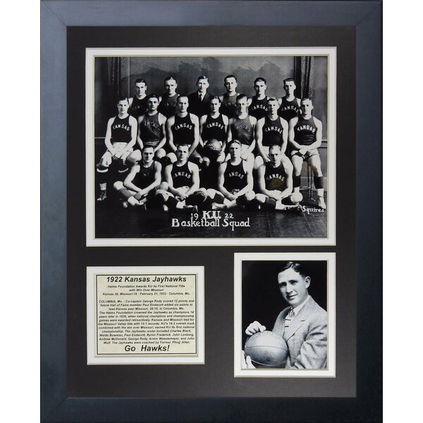 1922 Kansas Jayhawks Framed Memorabilia by Legends Never Die