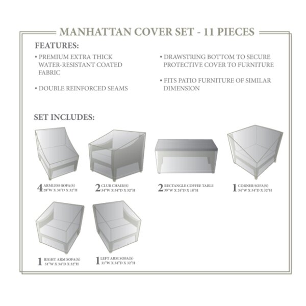 Manhattan Winter 11 Piece Cover Set by TK Classics