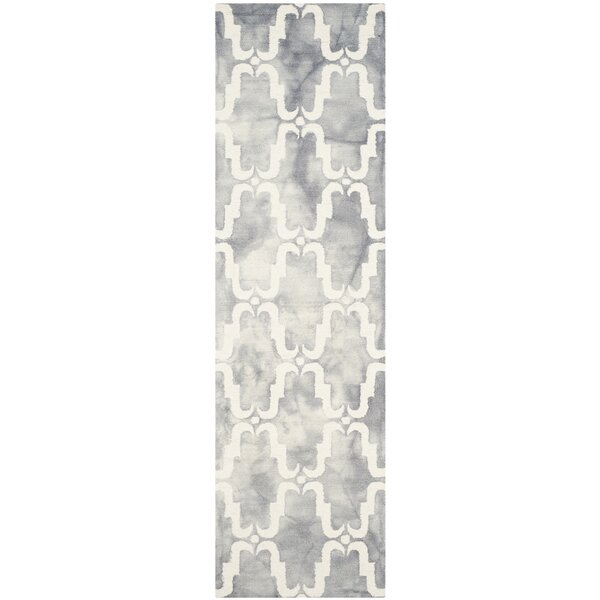 Hand-Tufted Wood Gray/Ivory Area Rug by Bungalow Rose