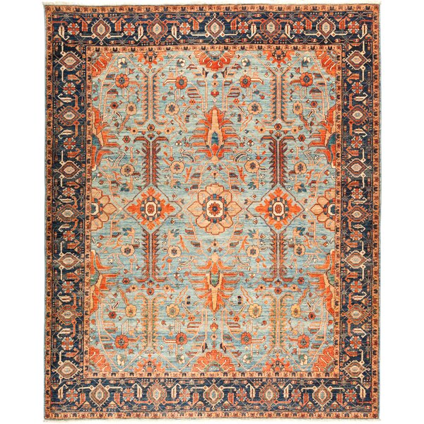 One-of-a-Kind Diam Hand Knotted Wool Blue Area Rug by Isabelline