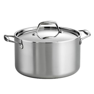 Gourmet Tri-Ply Clad  6 Qt. Stock Pot with Lid