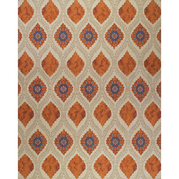 Thistle Tan/Rust Area Rug by Bungalow Rose