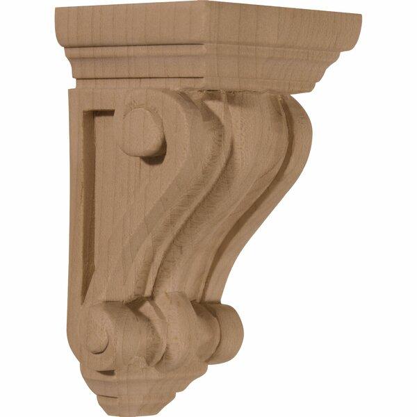 Devon Traditional 4 1/4H x 2 1/4W x 2 1/4D Wood Corbel in Red Oak by Ekena Millwork