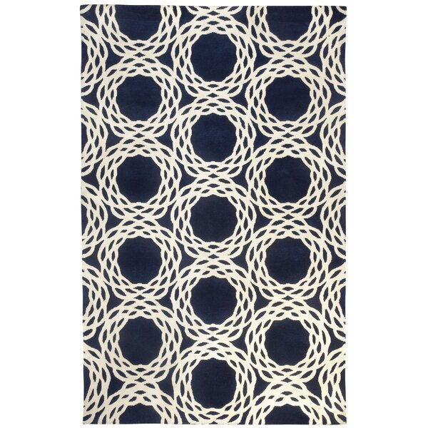 Cococozy Dark Blue / Ivory Princeton Area Rug by Capel Rugs