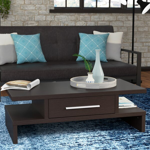 Wylie Rectangular 1 Drawer Coffee Table by Zipcode