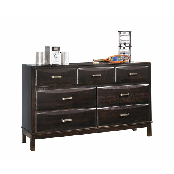 Kira 7 Drawer Double Dresser with Mirror by Signature Design by Ashley