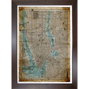 Glass world map wall art youll love wayfair city maps new york city framed graphic art print on glass gumiabroncs Gallery