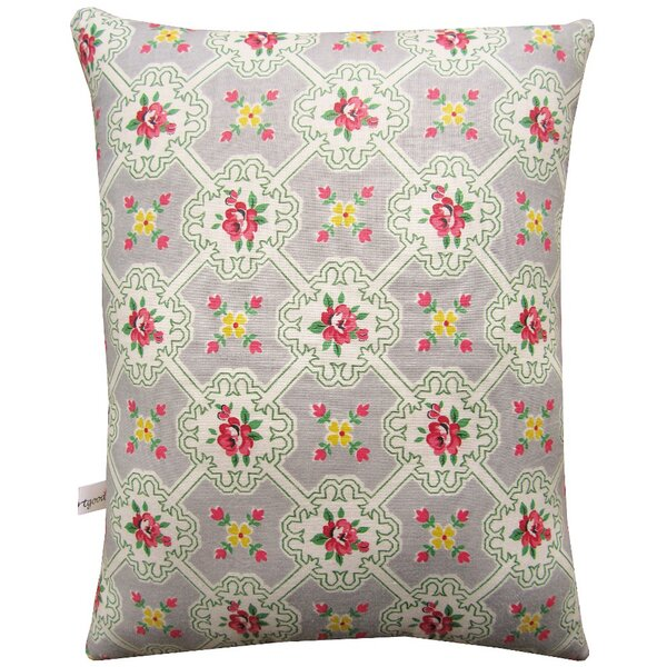 Rooster Block Print Squillow Accent Cotton Throw Pillow by Artgoodies