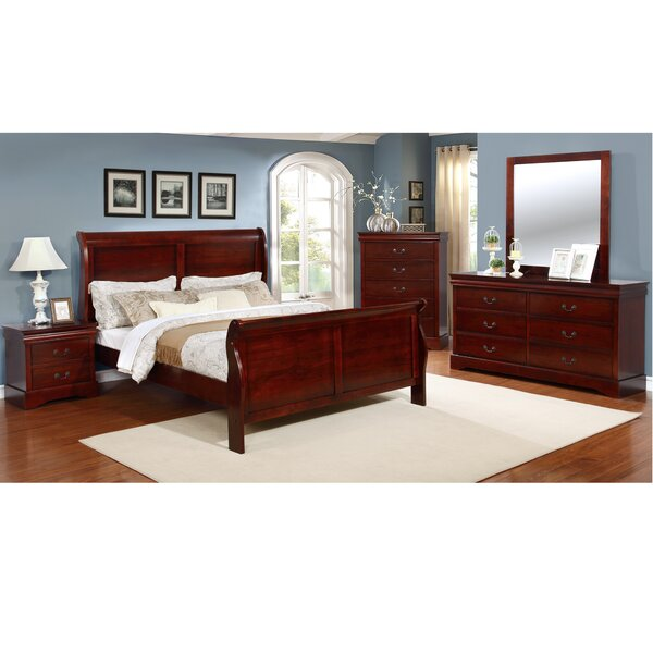 Veasley Sleigh 4 Piece Bedroom Set by Alcott Hill