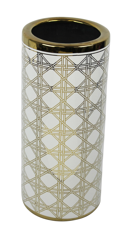 rosdorf park crosby ceramic umbrella stand | wayfair Ceramic Umbrella Holder
