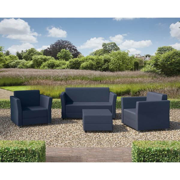 Verona 4 Piece Sofa Set with Cushions by SunTime Outdoor Living