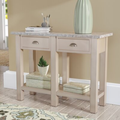 Genial Burket Faux Marble Console Table