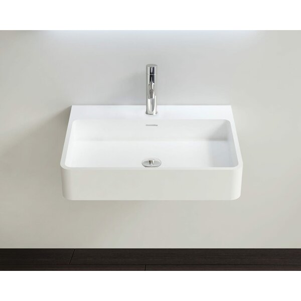 Polymarble 23 Wall Mount Bathroom Sink with Overflow