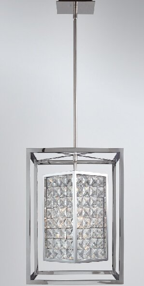 Honora 3 - Light Unique / Statement Rectangle / Square Chandelier by Everly Quinn Everly Quinn