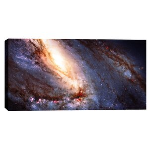 Messier 66 Hubble Space Telescope Giclee Photographic Print on Wrapped Canvas by Epic Graffiti