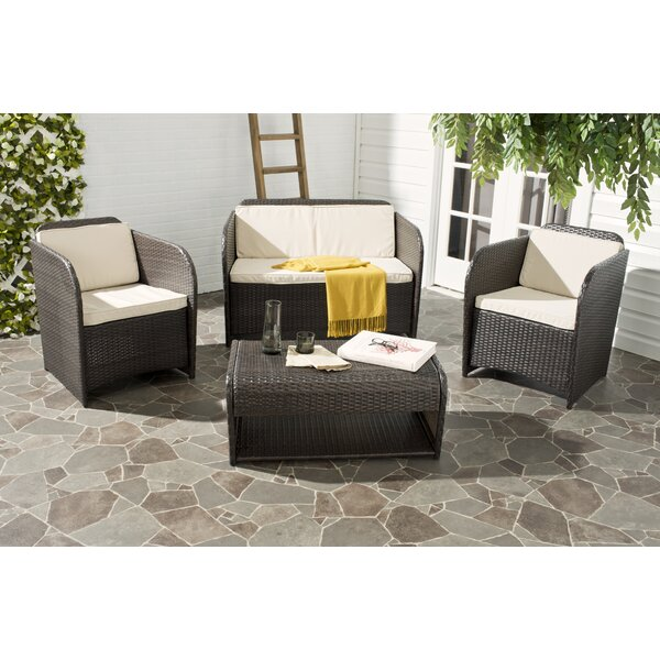 Caprina 4 Piece Sofa Set with Cushions by Safavieh