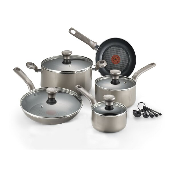 Excite 14 Piece Non-Stick Cookware Set by T-fal