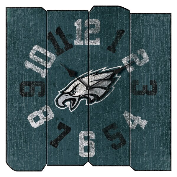 NFL Team Vintage Square Wall Clock by Imperial International