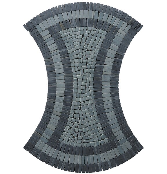 Landscape Wonder 17 x 24 Curvy Natural Stone Blend Mosaic Tile in Gray and Black by Intrend Tile