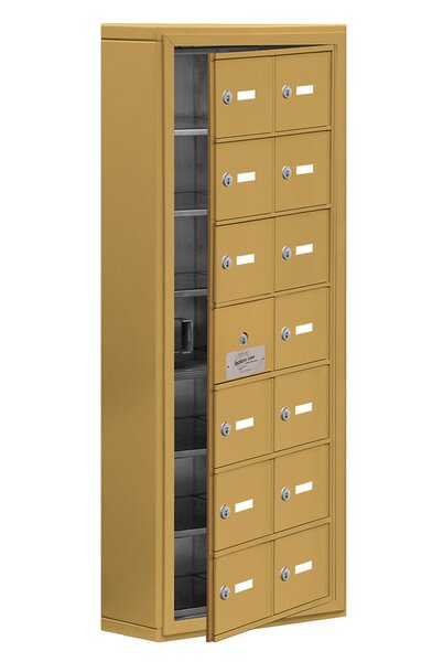 7 Tier 2 Wide EmpLoyee Locker by Salsbury Industries