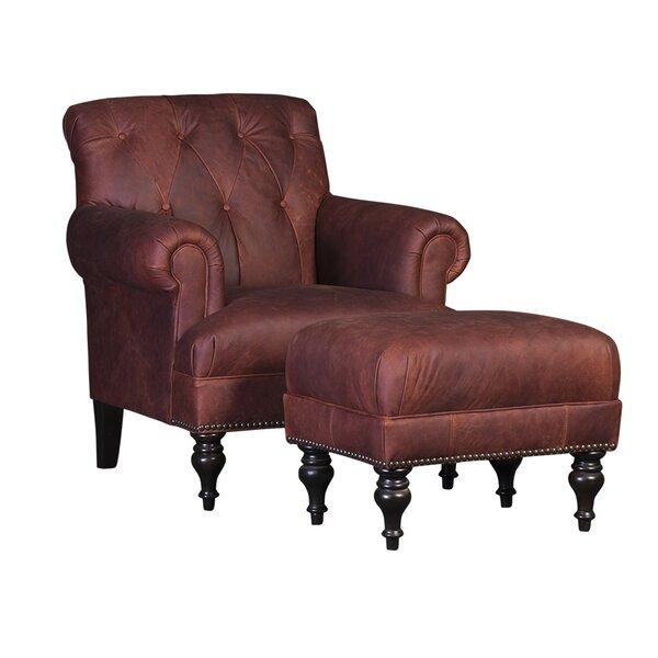 Cuadrado Club Chair and Ottoman by Darby Home Co Darby Home Co