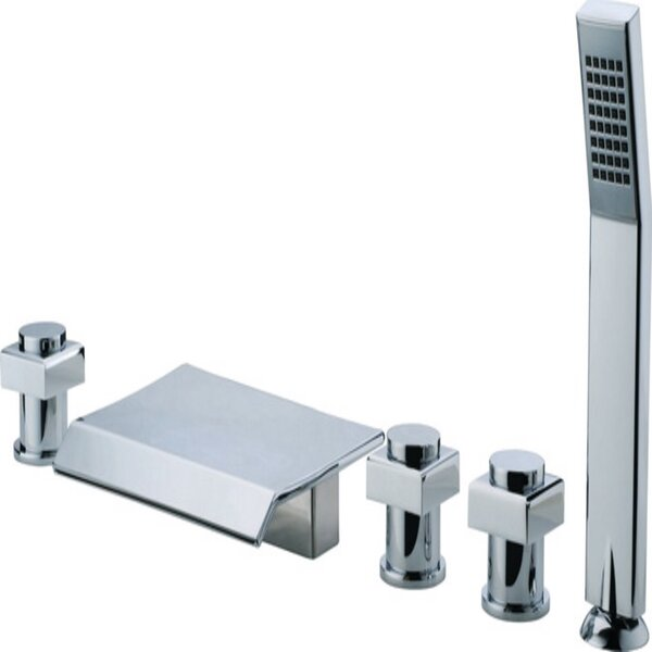 Triple Handle Deck Mounted Roman Tub Faucet with Diverter and Handshower by ANZZI ANZZI
