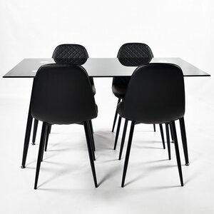 Essgruppe Amber mit 4 Stühlen von Orren Ellis