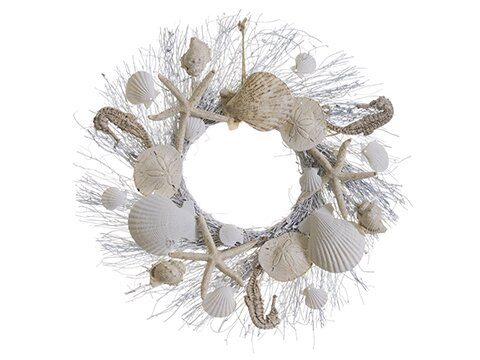 Dmitry Shell and Starfish 17 Wreath by Highland Dunes