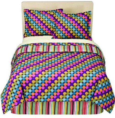 Dots and Stripes 3 Piece Comforter Set by Bacati