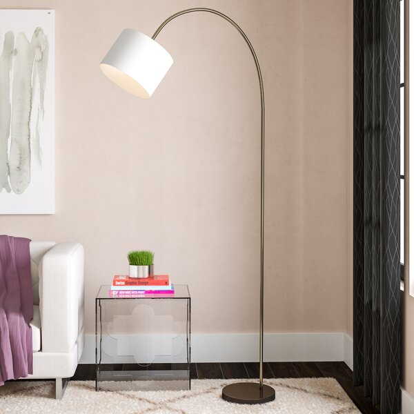 Bombardier Arched Floor Lamp by Mercury Row