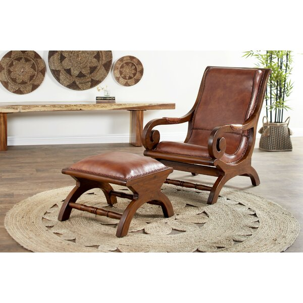 Korey Large Armchair and Ottoman (Set of 2) by Loon Peak
