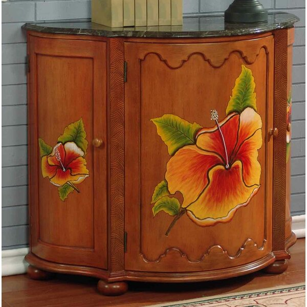 Spiers Hand-Painted Swivel Front Bar 3 Door Accent Cabinet