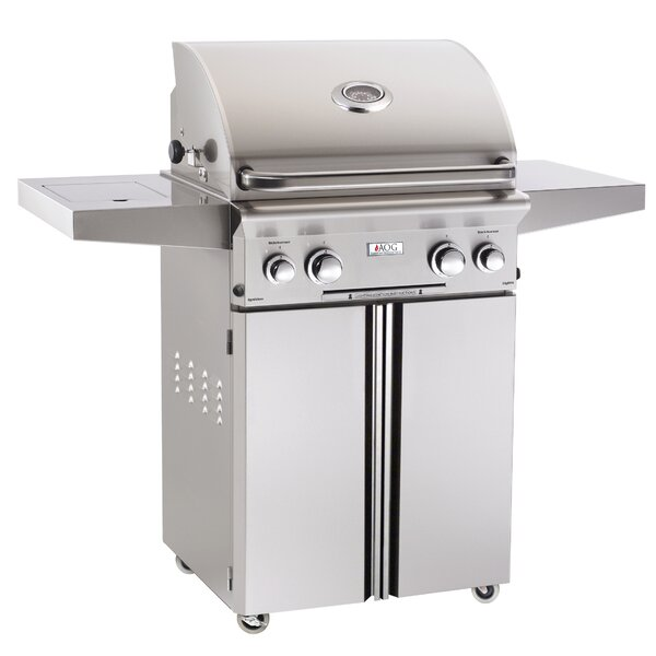 L Series Gas Grill with Side Shelves by American Outdoor Grill