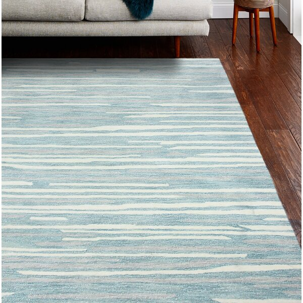 Kelson Artsilk Hand-Knotted Aqua Area Rug by Latitude Run