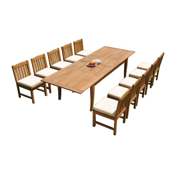 Izaiah 11 Piece Teak Dining Set by Rosecliff Heights