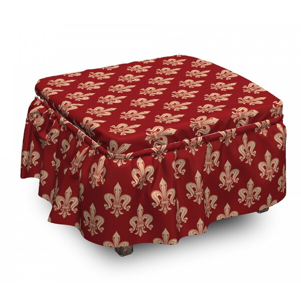 Swirling Deco Ottoman Slipcover (Set Of 2) By East Urban Home