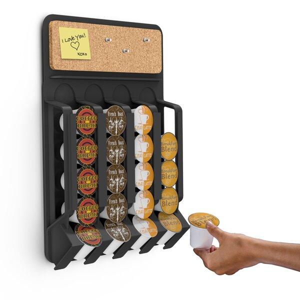 Fridge/Wall Mount Coffee Pod Dispenser by Mind Reader