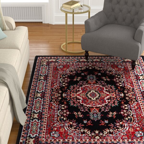 Lilly Black Area Rug by Astoria Grand