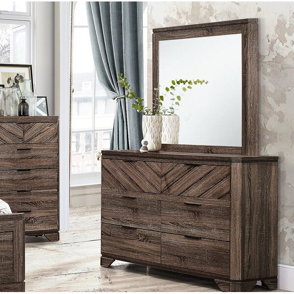 Posie 6 Drawer Double Dresser with Mirror by Foundstone