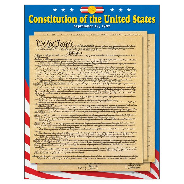 Learning US Constitution Chart by Trend Enterprises