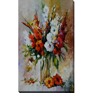 Gladiolus by Leonid Afremov Painting Print on Wrapped Canvas by Picture Perfect International