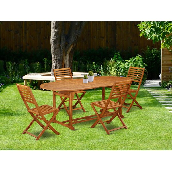 Trevion 5 Piece Patio Dining Set by Longshore Tides